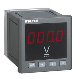 China 80mm Marine AC LCD Digital Panel Voltmeter Mini Size With RS485 Communication supplier