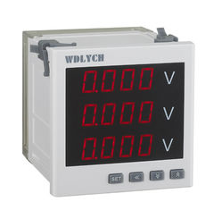 China Input 0-100V Programmable Digital Electric Meter 120*120mm Standard PT Connected supplier