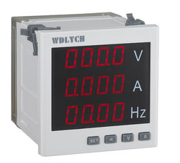 White Digital Multifunction Meter Current Voltage Frequency One Channel Passive Relay