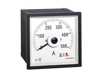China Wide Angle  Analog Panel Ammeter 96*96mm , Analog Ac Amp Panel Meters Wtih Rectifer Ct500/5a supplier