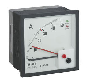 96 *96mm Analog Panel Ammeter Squre Type 90 Degree With Red Line Alarm Output