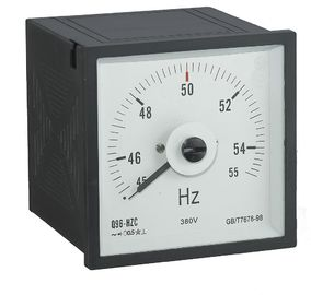 96*96mm Analog Frequency Meter , Analog Amp Meter Light Weight Reasonable Structure