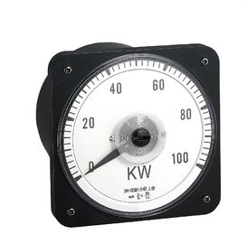 Moving Coil Analog Electric Meter , 110*110mm Analogue Panel Ammeter Three Phase