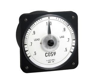 110*110mm Analog Power Factor Meter Abs Plastic Shell Housing Transparent Glass