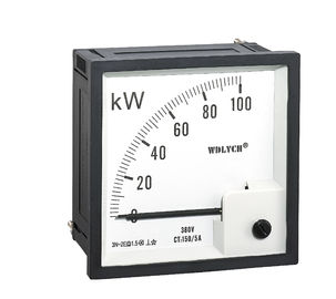 72 * 72mm 3P4W Analogue Panel Power Meter Direct Acting Indicating
