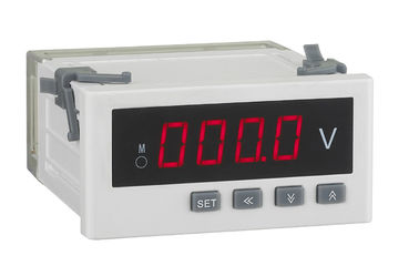 China Alarm Output Digital Panel Voltmeter , 96*48mm Voltage Monitoring Device Automation Control distributor