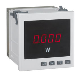 China Isolation Digital Power Meter , 72*72mm Electronic Energy Meter 2 Programable Alarms distributor