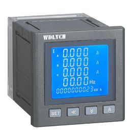 China 96mm Wdy-9e Digital Panel Meter  Intelligent 3 Phase Grey Color Spray Painted distributor