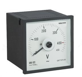 China Light Weigh Analog Panel Voltmeter , Squre Analog Current Meter Reasonable Structure distributor