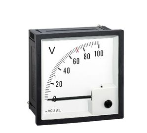 China Oem Odm Analog Panel Voltmeter  Indicating Pointer  90 Degree Rotation Good Appearance distributor