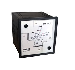 China Vertical Installation Analog Panel Voltmeter Abs Plastic Shell Housing  Marine Type distributor