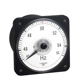 China Round Frequency Panel Meter Moving Coil Structure 110*110mm Zero Screw Adjust distributor
