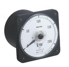 Unbalanced Load Single Phase Round Analog Power Meter 80*80mm Integrated Type